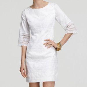 NWT LILLY PULITZER Shauna white lace tunic dress